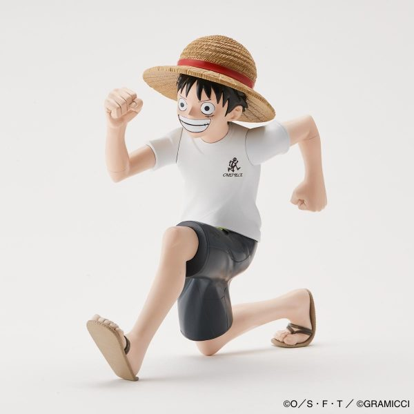 HKDSTOY GRAMICCI x ONE PIECE [Luffy 'Running man'] White/DoubleNavy